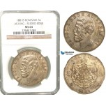 V76, Romania, Carol I, 5 Lei 1881-B (As King) Bucharest, Silver, NGC MS63