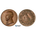 V76X, Romania, Carol I, Bronze medal (Ø 84mm, 256g) On the war of independence (1877-1878) By W Kullrich