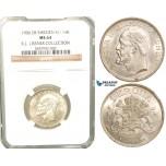 W08, Sweden, Oscar II, 1 Krona 1906 EB, Stockholm, Silver, NGC MS64 , ex. Lissner, SM 79