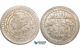 W77, Ottoman Empire, Algeria, Mahmud II, Budju AH1239, Jaza'ir, Silver (11.22g) AU-UNC