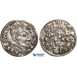 W82, Lithuania, Sigismund III of Poland, 3 Groschen (Trojak) 1600, Vilnius, Silver (2.19g) gVF (Cleaned) Very Rare!