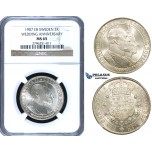 ZF14, Sweden, Oscar II, 2 Kronor 1907 EB (Wedding Anniversary) Stockholm, Silver, NGC MS65