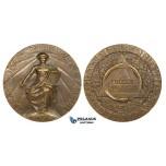 ZG70, Italy, Freemasonry Bronze Medal (Ø 45mm, 47g) by Croce, on the International Masonic Congress, Rome 1911