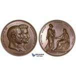 ZM112, Denmark, Christian IX, Bronze Medal 1879 (Ø47mm, 68.1g) by Conradson, Owl, Copenhagen University