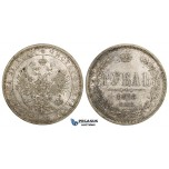ZM132B, Russia, Alexander II, Rouble 1878 СПБ-НФ, St. Petersburg, Silver, Toned aUNC (few marks)