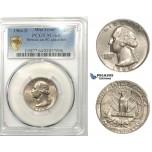 ZM140, United States, Washington Quarter (25C) 1964-D, Denver, Mint Error, Struck on 5C Planchet, PCGS MS64