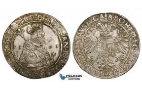 ZM142, Austria, Bohemia, Ferdinand I, Taler 1561, Kuttenberg, Silver (28.54g) Toned & Well struck EF