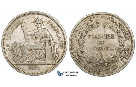 ZM148, French Indo-China, Piastre 1895-A, Paris, Silver, gVF