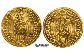 ZM164, Germany, Hamburg, Maximilian I, Ducat 1497, Gold (3.54g) VF