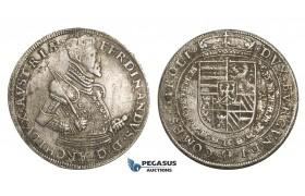 ZM18, Austria, Archduke Ferdinand, Taler ND (1564-95) Hall, Silver (27.90g) Corrosion, VF