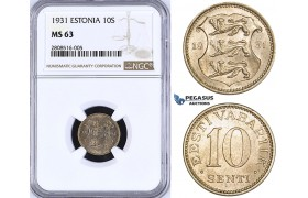 ZM200, Estonia, 10 Senti 1931, NGC MS63