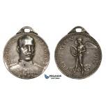 ZM224, Greece, George I, Silver Medal 1912 (Ø27mm, 9.76g) by Brayat, First Balkan War, Nike