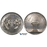 ZM227, Sweden & Germany, Gustav III, Silver Medal ND (Ø33mm, 13.41g) by Fehrman, Louisa Ulrika of Prussia