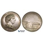 ZM229, Sweden, Carl XIV, Silver Medal 1830's (Ø33mm, 12.84g) by Fehrman, Agriculture