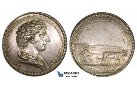 ZM229, Sweden, Carl XIV, Silver Medal 1830's (Ø33mm, 12.84g) by Fehrman, Agriculture