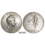 ZM230, Sweden, Oscar I, Silver Medal 1832 (1879) (Ø44mm, 39.84g) by Ahlborn, Poseidon