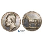 ZM237, Sweden, Oscar II, Silver Medal ND (Ø43mm, 38.16g) by Ahlborn, Horse Breeding
