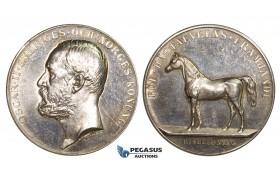 ZM238, Sweden, Oscar II, Silver Medal ND (Ø43mm, 39.08g) by Ahlborn, Horse Breeding