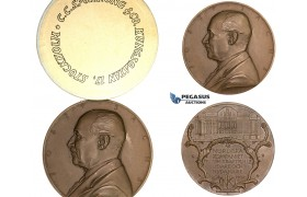 ZM246, Sweden, Bronze Medal 1937 (Ø60mm, 87g) by Lindberg, Josef Sachs, Nordiska Kompaniet