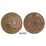 ZM248, United States, Indian Cent 1867, Philadelphia, Die Clash, AU