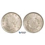 ZM251, United States, Liberty Nickel (5C) 1907, Philadelphia, UNC (Scratch on check)