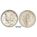 ZM253, United States, Mercury Dime (10C) 1918-S, San Francisco, Silver, AU-UNC