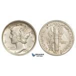 ZM254, United States, Mercury Dime (10C) 1920, Philadelphia, Silver, AU-UNC FB