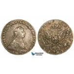 ZM259, Russia, Peter III, Rouble 1762 ММД-ДМ, Moscow, Silver (23.89g) Nice toning! VF-XF, Rare!