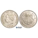 ZM28, Cambodia, Norodom I, 4 Francs 1860, Phnom Penh, Silver, aXF
