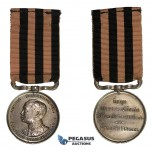 ZM301, Thailand, Rama VI, Silver Medal 1911 (Ø31mm, 19.30g) with ribon, On his Coronation