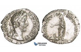 ZM304, Roman Empire, Commodus (177-192 AD) AR Denarius (2.69g) Rome, 191 AD, Commodus Standing, EF
