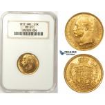 ZM39, Denmark, Frederike VIII, 20 Kroner 1912 VBP, Copenhagen, Gold, NGC MS65