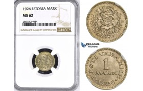 ZM410, Estonia, 1 Mark 1926, NGC MS62
