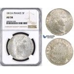 ZM413, France, Napoleon I, 5 Francs 1812-A, Paris, Silver, NGC AU58