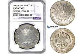 ZM426, Mexico, 8 Reales 1883 Mo MH, Mexico City, Silver, NGC UNC Details