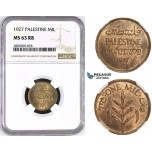 ZM427, Palestine, 1 Mil 1927, London, NGC MS63RB