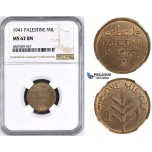 ZM429, Palestine, 1 Mil 1941, London, NGC MS62BN
