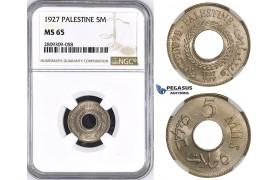 ZM430, Palestine, 5 Mils 1927, London, NGC MS65