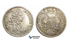 ZM449, Hungary, Joseph I, 1/2 Taler 1710/09, Kremnitz, Silver (14.19g) VF (Ex. mount)
