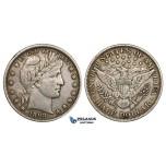 ZM455, United States, Barber Half Dollar 1898, Philadelphia, Silver, VF