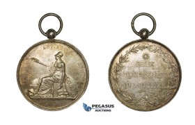 ZM460, France, Silver Medal 1816 (1840-60) (Ø34.5mm, 19.68g) Soreze School, Owl