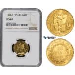 ZM503, France, Third Republic, 20 Francs 1878-A, Paris, Gold, NGC MS65 (Prooflike)