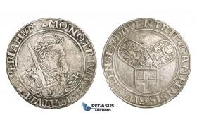 ZM506, Netherlands, Deventer, Campen & Zwolle, Taler ND (1554) Silver (26.60g) Cleaned VF, Del. 671 (R2) Rare!