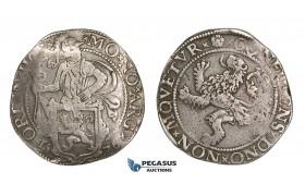 ZM507, Netherlands, Holland, Lion Daalder (Taler) 1576, Silver (26.78g) VF-XF