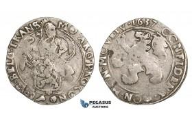 ZM508, Netherlands, West Friesland, Lion Daalder (Taler) 1637, Silver (26.88g) Bold struck VF