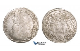 ZM510, Ragusa, Tallero Rettorale 1752 GB, Silver (28.27g) F-VF