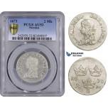 ZM521, Sweden, Karl XI, 2 Mark 1671 ST, Stockholm, Silver, SM122a, PCGS AU53