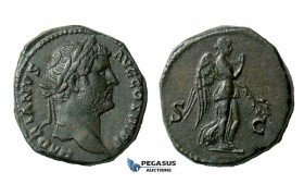 ZM531, Roman Empire, Hadrian (117-138 AD) Æ As (15.33g) Rome, 134-38 AD, Nemesis