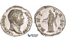 ZM532, Roman Empire, Hadrian (117-138 AD) AR Denarius (3.54g) Rome, 134-38 AD, Moneta