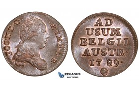 ZM533, Austrian Netherlands, Joseph II, Liard 1789, Brussels, Red UNC